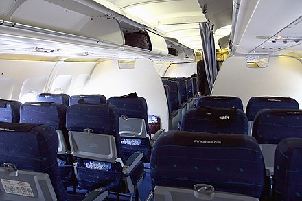 Interior of an Airblue Airbus A320-200 Airbus A320-231, Airblue AN1210295.jpg