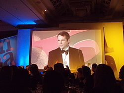 Alan Hansen presenting an award in 2006