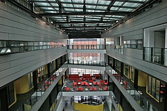 Alan Turing Building - The atrium looking down from the 3rd floor