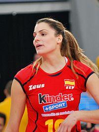 Alba Sanchez - FIVB World Championship European Qualification Women Łódź January 2014.jpg