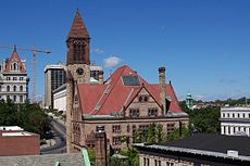 Albany City Hall was completed in 1883.