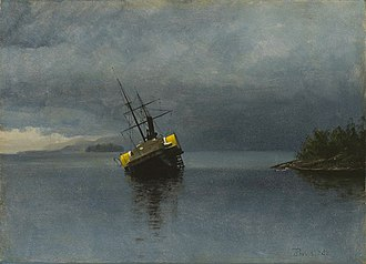 "Ancon (1867 ship) - Albert Bierstadt's, ""Wreck of the Ancon"""