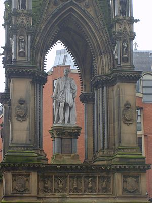 Albert Square, Manchester - Close-up of the Albert Memorial