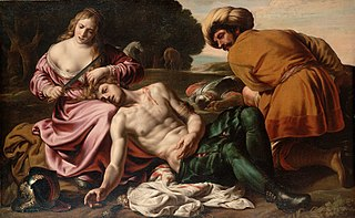 Erminia finds the wounded Tancred