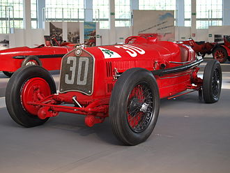 Alfa Romeo P2 - The 1930 P2 won the Targa Florio in the hands of Achille Varzi, who broke the average speed record for the race.