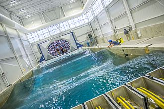 Wave tank - A wave basin at the University of Maine.