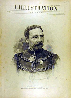 Alfred-Amédée Dodds - Gen. Alfred-Amédée Dodds on the cover of L'Illustration, 20 May 1893.