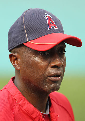 Alfredo Griffin - Griffin with the Los Angeles Angels