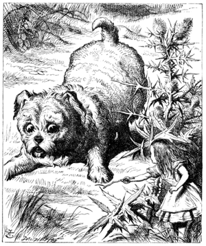 Puppy (Alice's Adventures in Wonderland) - Alice encounters the Puppy