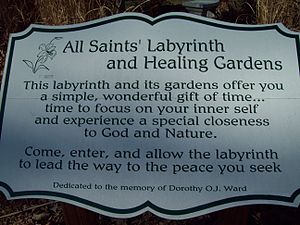 All Saints' Church (Sunderland, Maryland) - Image: All Saints Labyrinth Sign Dec 08