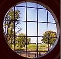 All Saints Parish Hall, Blackheath, London, round window.jpg
