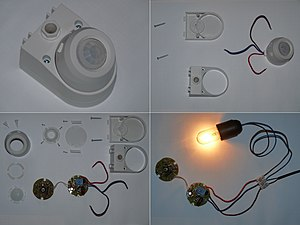 Motion detector - Low-cost motion detector used to control lighting.