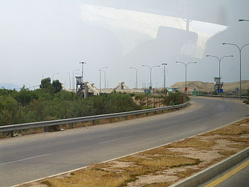 English: Allenby Bridge (King Hussein Bridge) ...