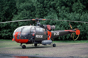 Leeuwarden Air Base - Sud-Aviation SE3160 Alouette III. These were used in the Search and Rescue (SAR) role at Leeuwarden until 1994.
