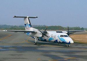 Amakusa Airfield - DHC-8-103 of Amakusa Airlines taxiing at Amakusa Airfield