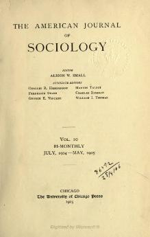 American Journal of Sociology Volume 10.djvu