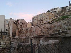 Nymphaeum (Amman) - The Nymphaeum in a different light