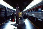 Amtrak trains at Washington Union Station, 1994.jpg