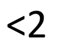 An Illustration of the 'Less Than Two' Symbol.png