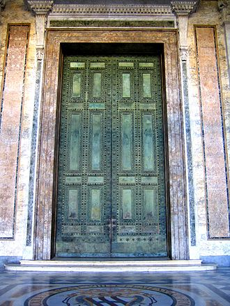 Curia Julia - Ancient bronze doors of the Curia Julia, now in the St. John Lateran.