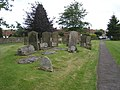 Ancient grave stones, St Mary's churchyard - geograph.org.uk - 486444.jpg