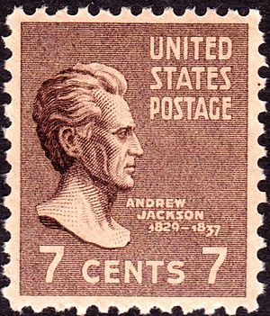 Presidential Issue - Andrew JacksonModel for engraving, Kinney-Scholz bronze statue, in U.S. Capitol