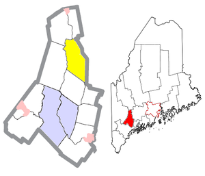 Leeds, Maine - Image: Androscoggin County Maine Incorporated Areas Leeds Highlighted