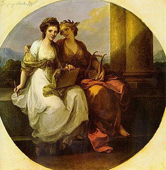 Women artists - Angelica Kauffman, Literature and Painting, 1782, Kenwood House