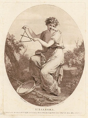 Triangle (musical instrument) -  Angelica Kauffman: L'Allegra, 1779