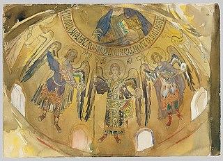 Angels, Mosaic, Palatine Chapel, Palermo