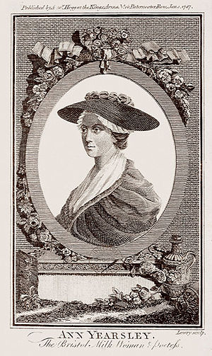 1787 in poetry - Ann Yearsley, in an engraving published this year