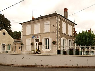 Annay, Nièvre - The town hall in Annay
