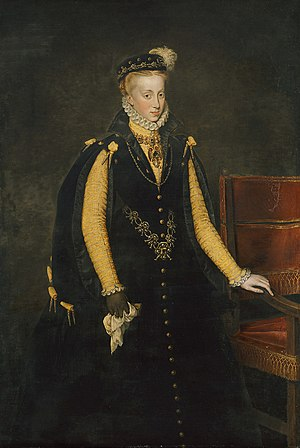 Anna of Austria, Queen of Spain - Anna by Antonis Mor
