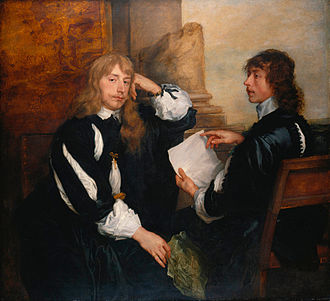 Thomas Killigrew -   Thomas Killigrew and (possibly)  Lord William Crofts by  Anthony van Dyck