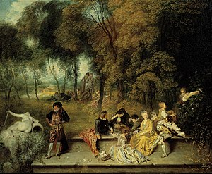Jean-Antoine Watteau -  Pleasures of Love (1718–1719)