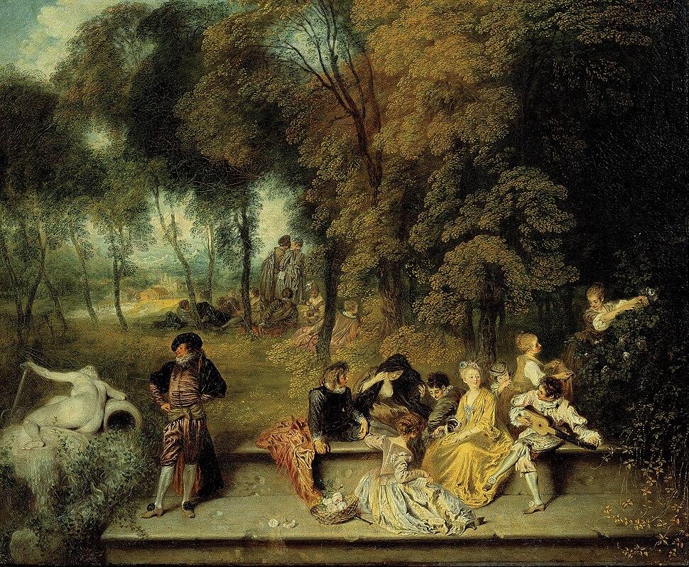 Antoine Watteau - Pleasures of Love - Google Art Project