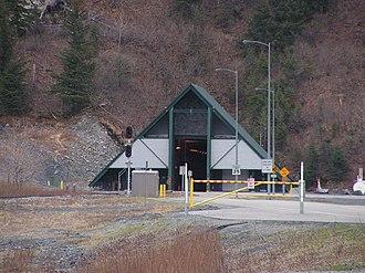 Portage Glacier Highway - Image: Anton Anderson Tunnel