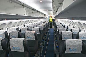 Antonov An-148 - An-148 cabin.