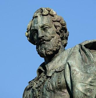 Guillaume Geefs - Detail from Geefs' sculpture of Rubens