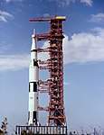 Apollo 13 Saturn V during rollout.jpg