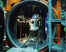 Apollo Command Service Module in vacuum chamber.jpg