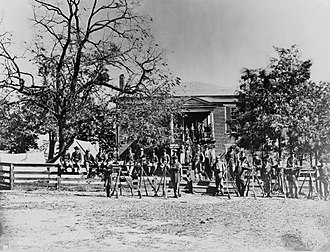 Appomattox Court House National Historical Park - Image: Appomattox Court House Union soldiers