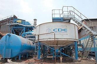 Sewage sludge treatment - A sewage sludge thickener.