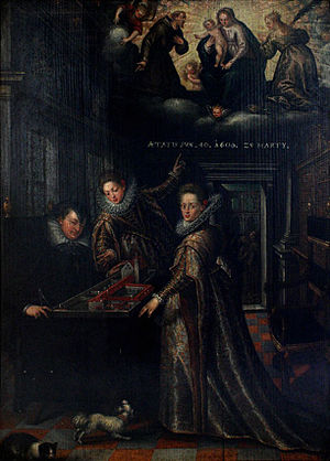 Anna of Tyrol - Dowager Archduchess Anna Catherina with her daughters Anna and Maria.