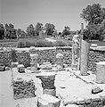 Archeologische site met bouwfragmenten waaronder een beeld van de godin van de o, Bestanddeelnr 255-2572.jpg
