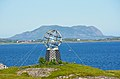 Arctic circle globe on the island of Vikingen.jpg