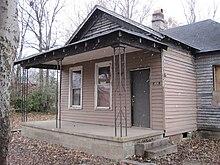 La casa di nascita di Aretha Franklin al 406 di Lucy Avenue a Memphis