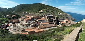 History of mining in Sardinia - The village of Argentiera, where was located the main silver mine on the island