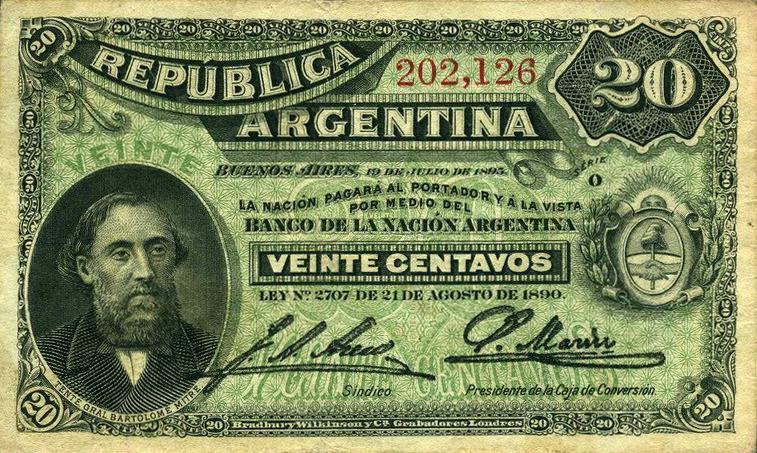 Argentina-1895-Bill-0.20-Obverse