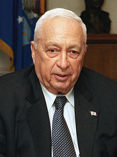 Ariel Sharon prime minister of Israel and Israeli general